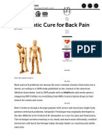 A Cure for Back Pain - The Alexander Technique
