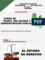 (4) El Estado de Derecho