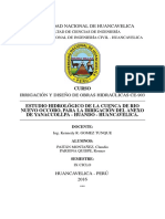 GENERACIÓN DE CAUDALES MEDIAS MENSUALES APLICANDO EL MODELO DETERMINÍSTICO - ESTOCÁSTICO DE LUTZ SCHOLZ, EN LA CUENCA DE RIO NUEVO OCCORO - HUANDO, HUANCAVELICA