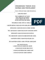 Carta Organisasi Tahun 2016