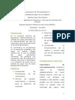 Informe de calidad de vapor termodicamica II ESPOL