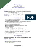 kaplan resume