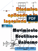 movimiento rectilineo uniforme