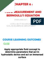 Chapter 6 Flow Measurement and Bernoulli Equation