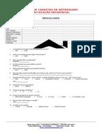 Modelo de Ficha para Cadastro de Interessado Em Locação de imóvel