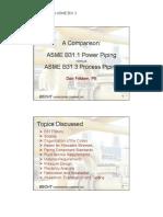 A Comparison between ASME b31.1 Power Pipig vs. ASME b31.3 Process Piping.pdf
