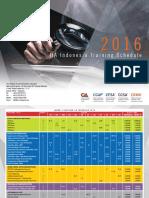 2016 IIA Indonesia Training Schedule
