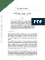 Deep Kalman Filters