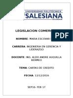 Legislacion Comercial Cartas de Credito