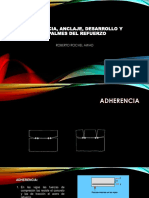Adherencia, Anclaje, Desarrollo y Empalmes Del Refuerzo