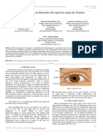 A Review Paper on Biometric Recognition using Iris Scanner