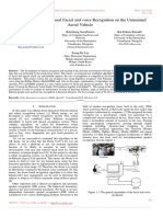 Autonomous Vision Based Facial and voice Recognition on the Unmanned Aerial Vehicle