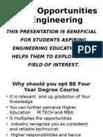 Career Opportunity in Engineering