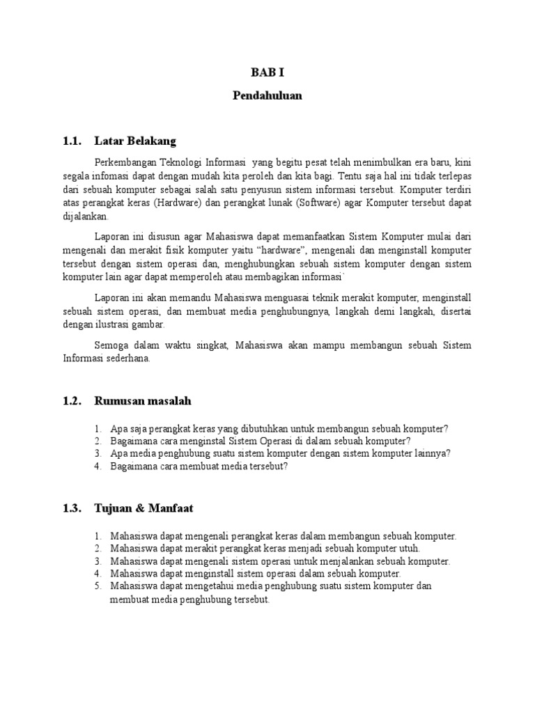 Pembahasan Laporan Praktikum Merakit Menginstall Pc