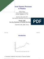 Bilateral Gamma Processes in Finance - Slides