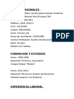 Curriculum Vitae Sandra