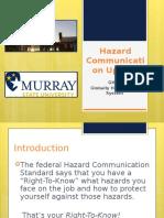 Hazard Communication Update - GHS