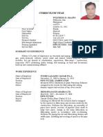 Wilfredo Maano New Resume