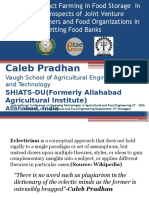 ETAE_INTL CONF_IIT KHARAGPUR 2016_1241_Role of Contract Farming in Food Storage In India and Prospects of Joint Venture between Farmers and Food Organisations in setting Food Bank