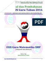 Soal Dan Pembahasan OSN Guru Matematika SMP Tahun 2016-Www.olimattohir.blogspot.com