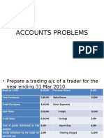 Accounts Problems