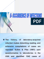 Occurrence of Infections in Laboratories