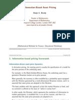 Information-Based Asset Pricing