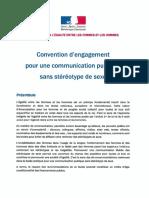 Convention d'Engagement Pour Une Communication Sans Stétéotype de Genre