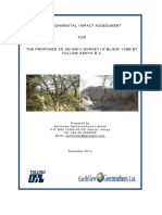 Final EIA Project Report for 3d Seismic Survey in Block 10bb