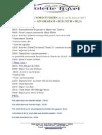 Programme Ain Draham-Tabarka