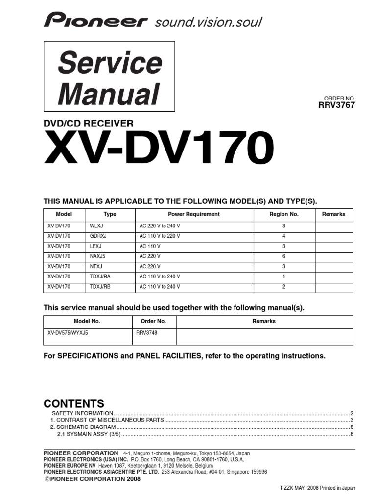 Pioneer xv dv170pdf cheapraybanclubmaster Images