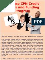 3 Phase CPN Credit Repair and Funding Program