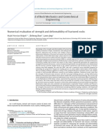 Numercial Evaluation of Strength and Deformability of Fractured Rocks