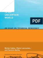 Michel-Callon Acting in an Uncertain World an Essay on Technical Democracy Inside Technology