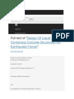 Design Liquid Containment