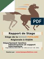 Rapport de Stage Au Banque Populaire