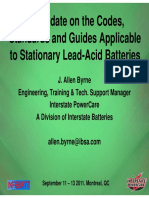 12.10 Allen J. Byrne - An Update on the Codes Standards and Guides Applicable to Stationary Lead-Acid Batteries