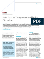 Dent Update 2016. Pain Part 6. Temporomandibular Disorders