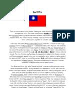 Assignment Janhel Taiwan