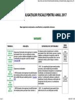 Calendarul Obligatiilor Fiscale - Ian 2017