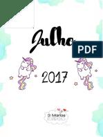 7 Planner 2017 Julho