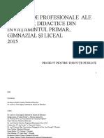 Ro 2718 Standarde Profesionale Ale Cadrelor Didactice