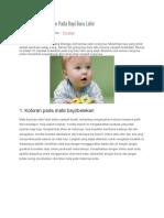 0 Masalah Kesehatan Pada Bayi Baru Lahir