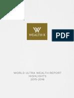 Wealth X World Ultra Wealth Report 2015 2016
