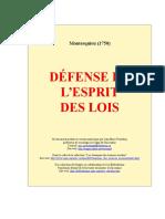 Defense Esprit Des Lois