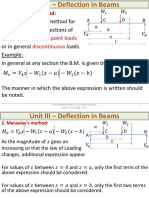 L13- Deflection - Macaulay's Method