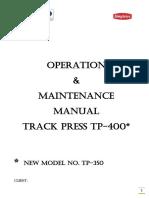 Machine Manual TP-400(I)