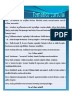 PEMAD Curs 1 Probleme Administrative