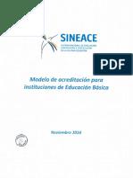 Modelo de Acreditacion Para Instituciones de Educacion Basica