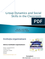 Group Dynamics and Social Skills in the Classroom